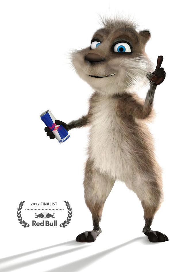 3d fur animal cartoon poster