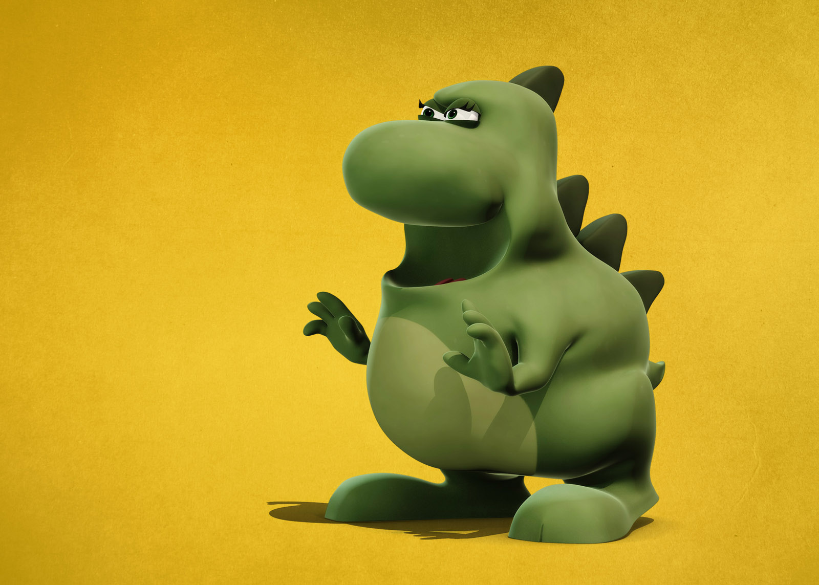 Tiny dinosaur 3d cartoon