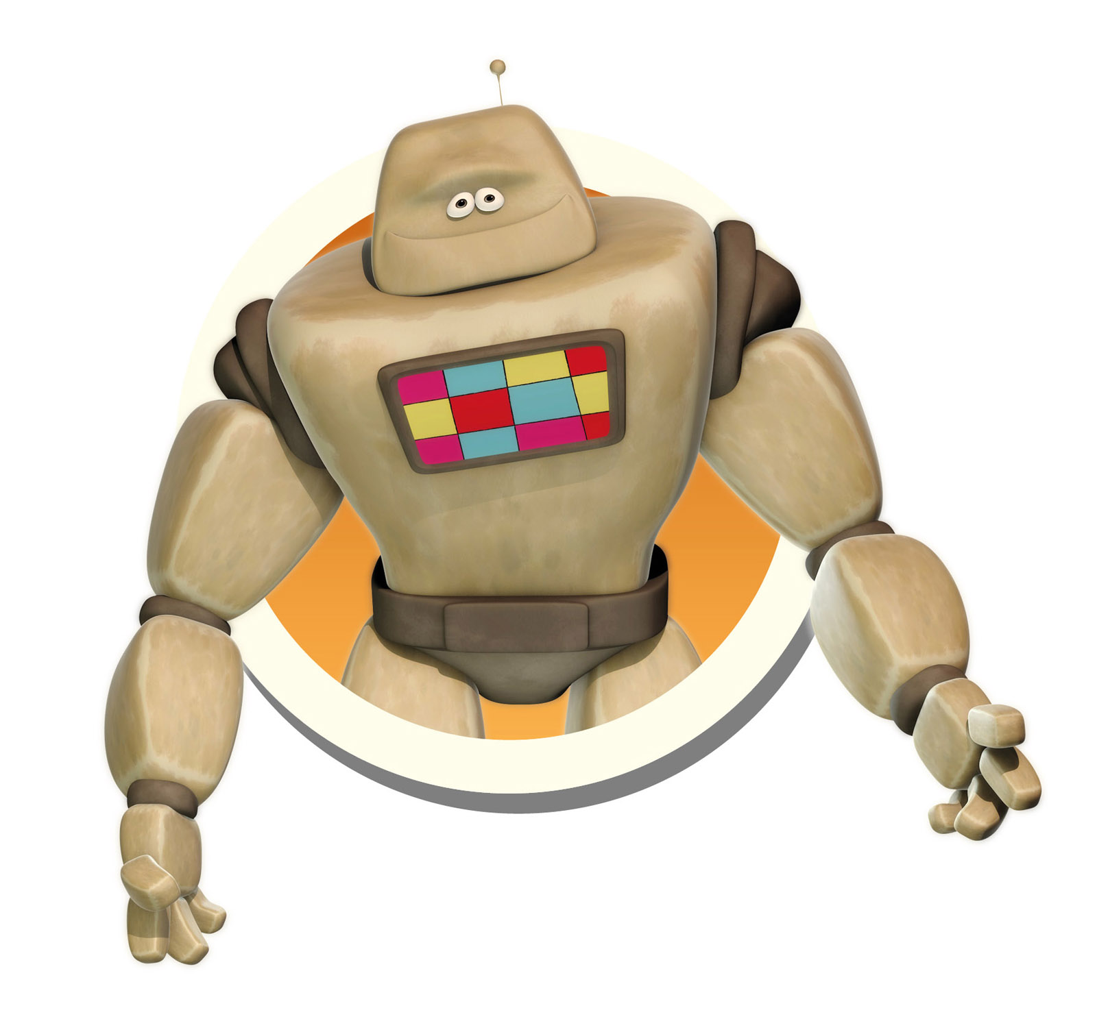 Robot children's cartoon character