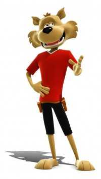 3d uk cartoon character
