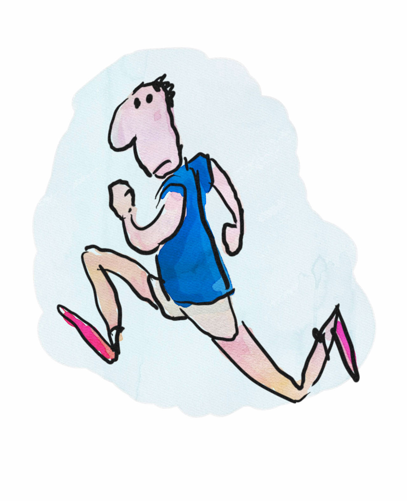 cartoon man running sketch