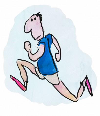 cartoon man running sketch